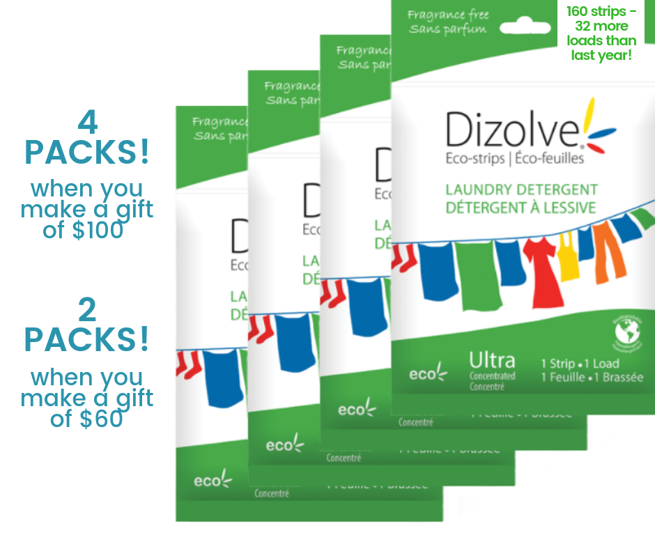 Free Gift of Dizove when you donate $60 or more