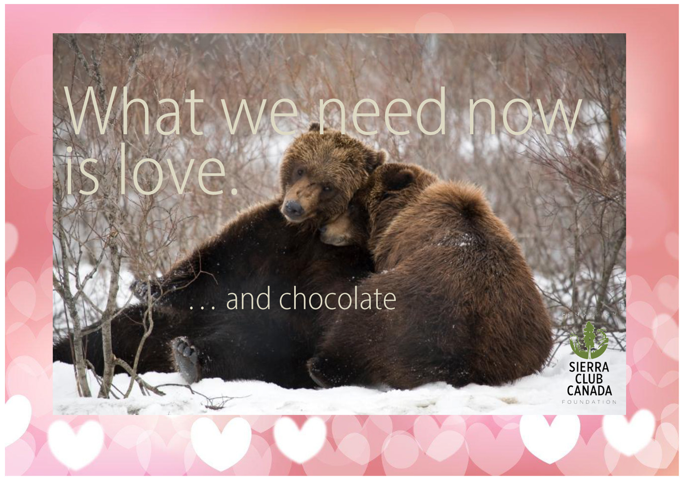 What we need now is LOVE. ANd CHOCOLATE.