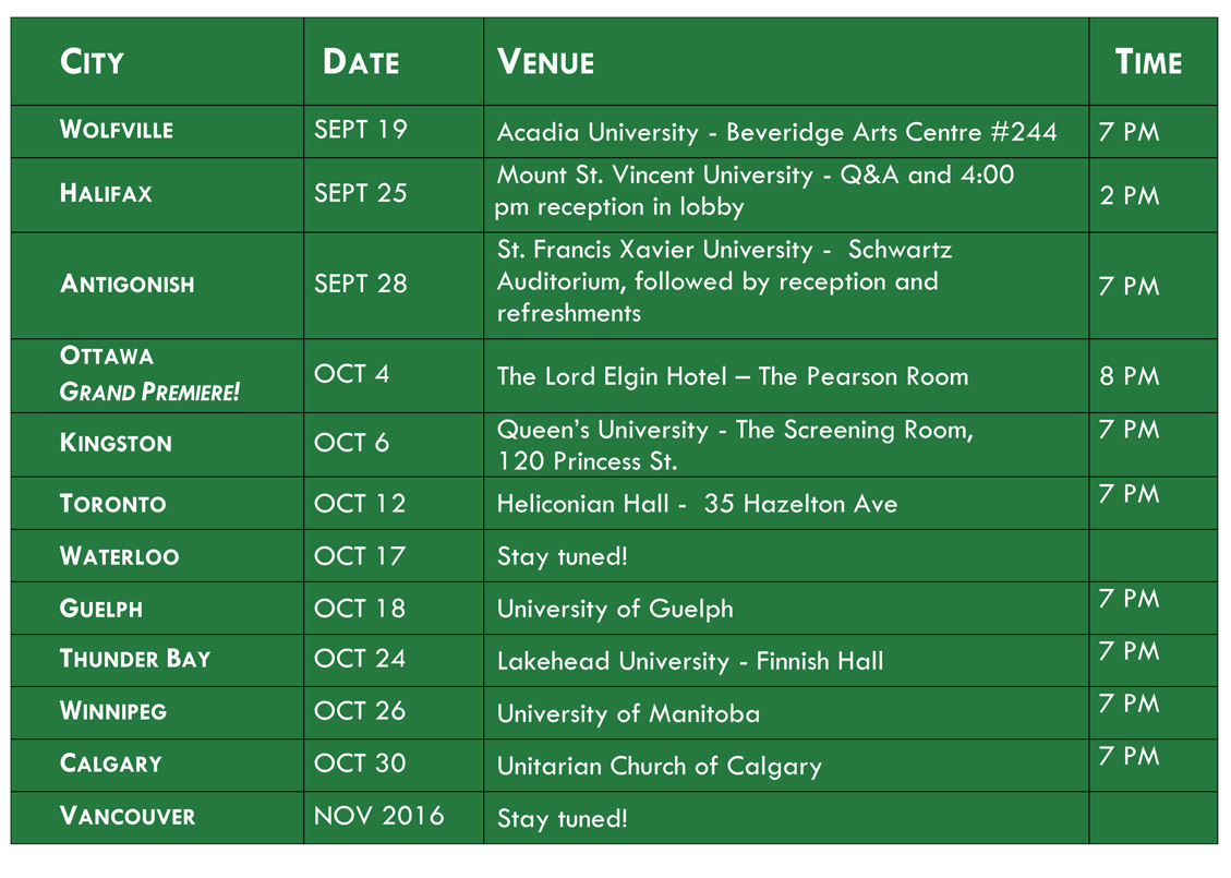 Green Rights film tour - cities-dates-venues-time