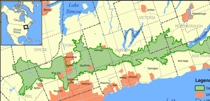 Oak ridges moraine in the Greenbelt