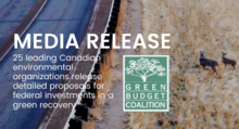 25 leading Canadian environmental organizations release detailed proposals for federal investments in a green recovery